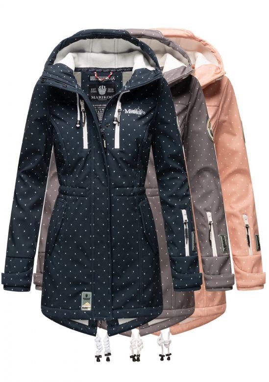 Dame Softshell outdoor jakke med dots - Flere Farver.