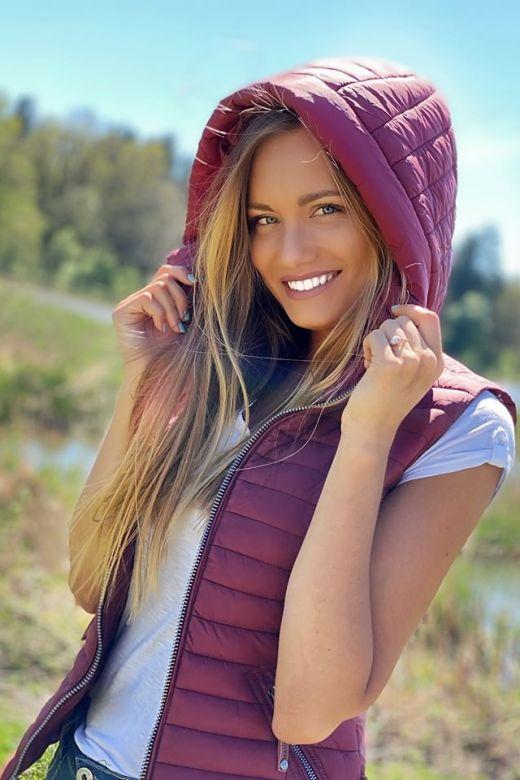 Dame sommer vest Navahoo shada - Bordeaux