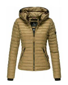Kimuk dyne jakke med hætte i Cinnamon