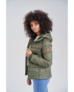 Dame vinter jakke Sole - Forrest Green