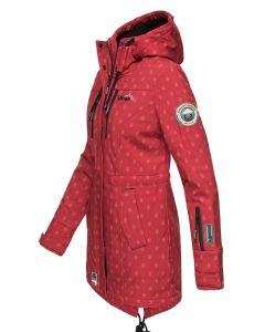 Flot Softshell outdoor jakke i Rød Logo