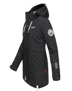 Flot Softshell outdoor jakke i Sort Logo