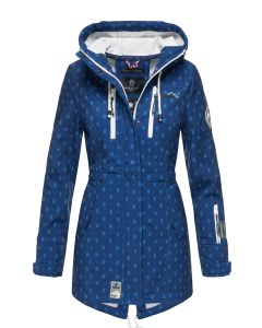Flot Softshell outdoor jakke Royal Blå logo