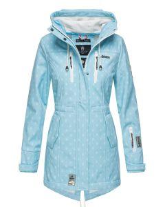 Flot Softshell outdoor jakke i lys blå Dot