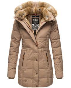 Dame vinter jakke model faurit - Taupe