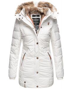 Dame vinter jakke model faurit - Hvid