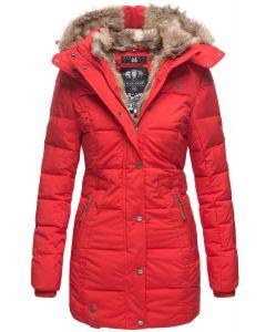 Dame vinter jakke model faurit - Rød