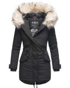 Dame vinterjakke med pels Lady like - Sort