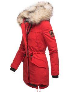 Dame vinterjakke med pels Lady like - Rød