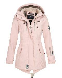 Flot Softshell outdoor jakke i Rosa