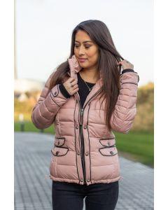 Kort Dame Vinterjakke Mausi - Rosa