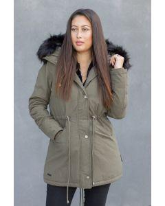Dame vinterjakke Tirisu - Army Grøn