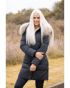 Dame Vinterjakke LUX Dun jakke med stor pels Toronto - Sort