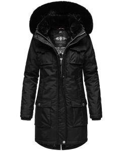 Dame Vinter jakke i kraftig kvalitet Navahoo Tiniis Sort