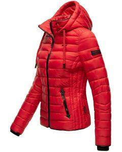 Dame dun jakke med hætte Navahoo Lulana Rød