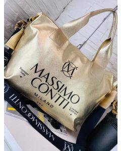 Massimo Contii Gold Håndtaske
