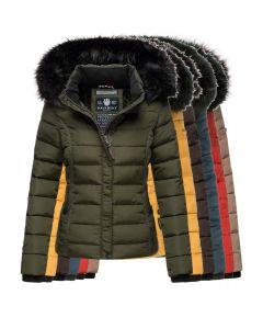 Dame vinterjakke med sort pels Navahoo Miamor - Flere Farver
