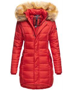 Dame Vinter dun jakke Papaya - Rød