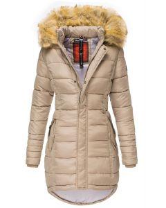 Dame Vinter dun jakke Papaya - Taupe