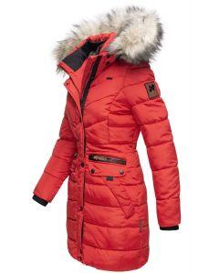 Dame vinterjakke med pels - Paula Rød