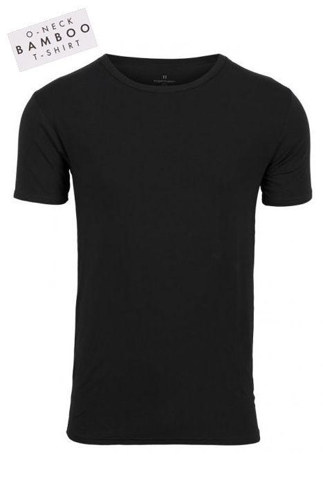 Bambus Herre T-Shirt i lækker kvalitet - Sort