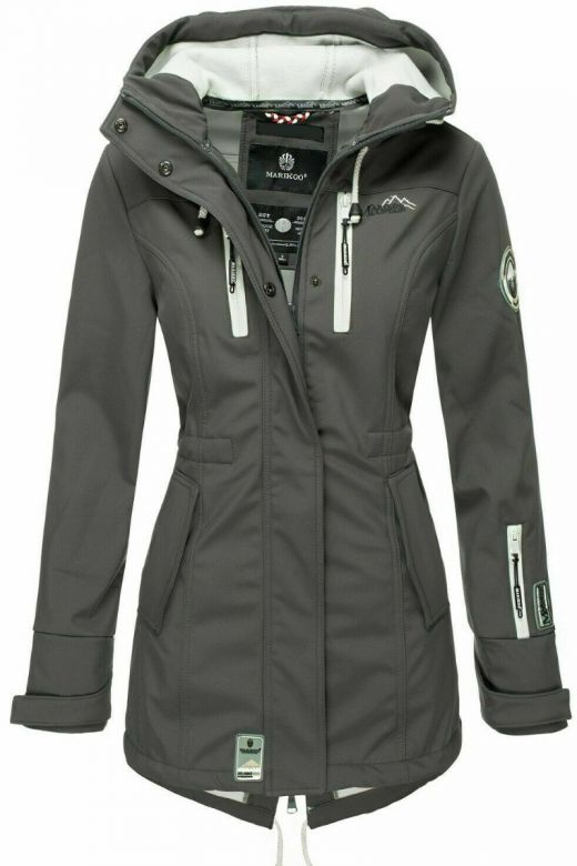 Flot Softshell outdoor jakke i Anthracite