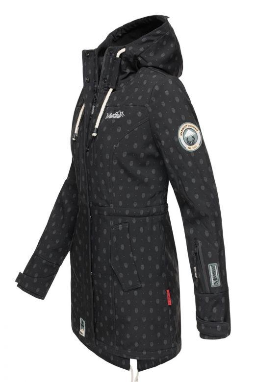 Flot Softshell outdoor jakke i Sort Dot