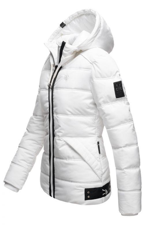 Kort Dame Vinterjakke Wolke - Hvid