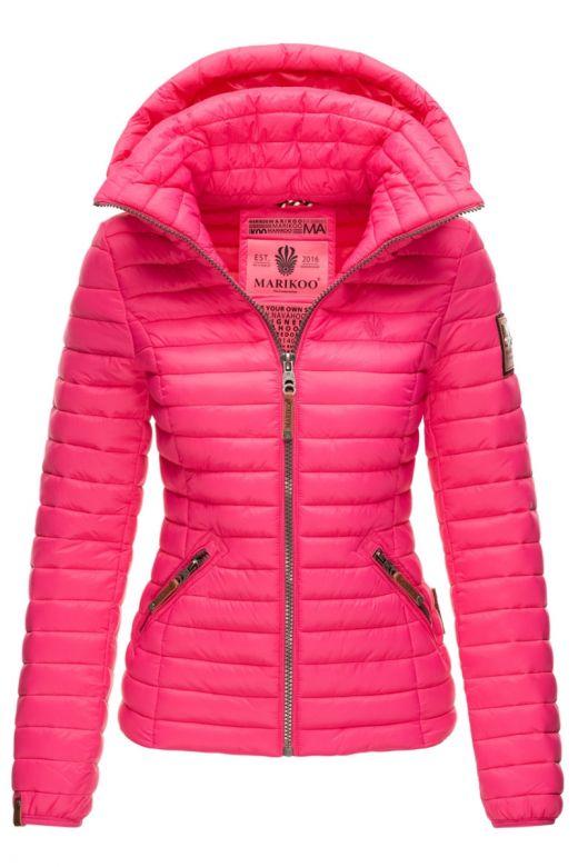 Dame jakke med hætte Baby Pink