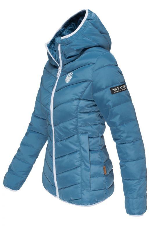 Sporty kort dun overgangsjakke - Blå