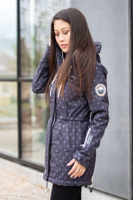 Flot Softshell outdoor jakke i Anthracite Dot