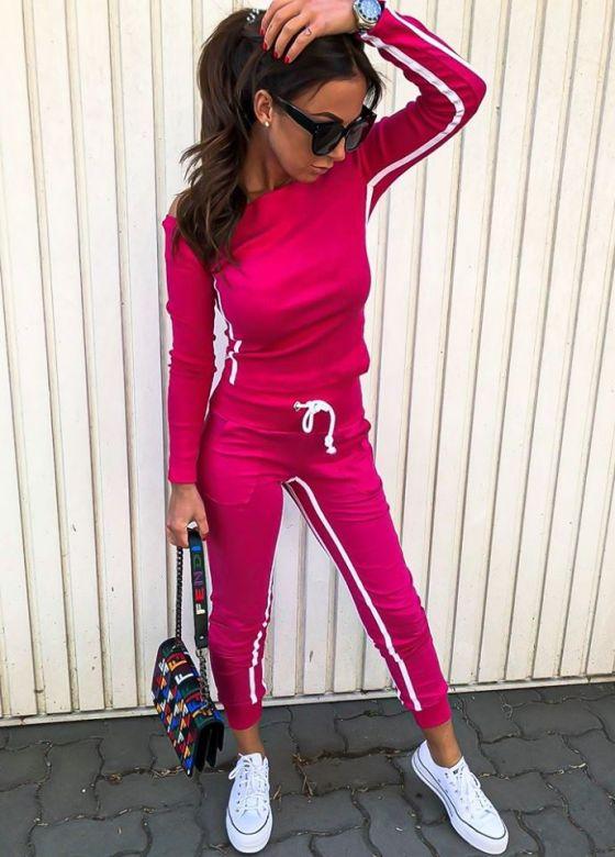 Jogging sæt Dasie - Hot Pink