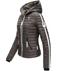 Dame dyne jakke med hætte Kimuk Prinsess i Antracite