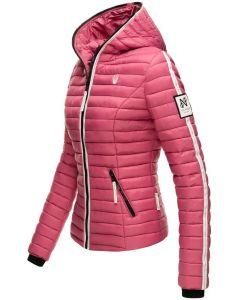 Dame dyne jakke med hætte Kimuk Prinsess i Berry
