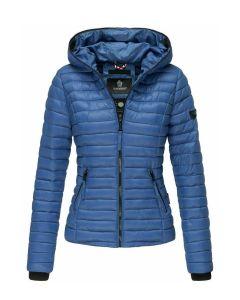 Kimuk dyne jakke med hætte i Blue Jean