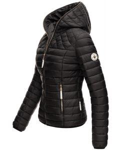 Dame dun jakke med hætte Smukke Sort