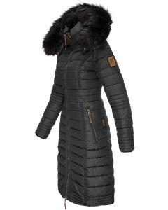 Lang dame vinterjakke Umay i Sort