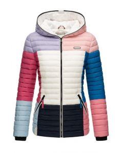 Dame dyne jakke med hætte Multi Mørk 1