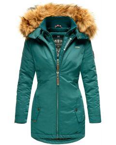 Dame outdoor Vinterjakke Sanko - Ocean Green