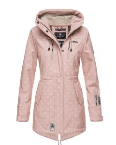 Flot Softshell outdoor jakke i Rosa Dot