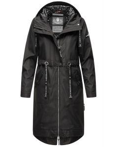 Dame Overgangs jakke i lang model Navahoo Josinaa i Sort