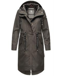 Dame Overgangs jakke i lang model Navahoo Josinaa i Anthracite