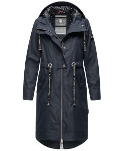 Dame Overgangs jakke i lang model Navahoo Josinaa i Navy
