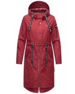 Dame Overgangs jakke i lang model Navahoo Josinaa i Bordeaux