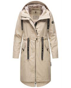 Dame Overgangs jakke i lang model Navahoo Josinaa i Lys Grå