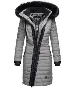 Dame Vinter dyne jakke med pels -Tirana Grå