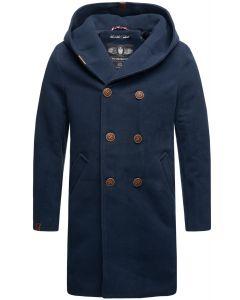 Herre vinter frakke Irukoo - Navy
