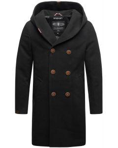 Herre vinter frakke Irukoo - Sort