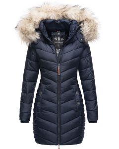 Dame Vinter dyne jakke med pels Nimala - Navy