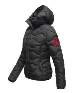 Dame dyne jakke med hætte Key Color Sort
